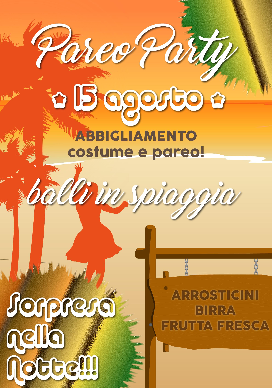 Pareo Party - Ferragosto - Bagni Massimo