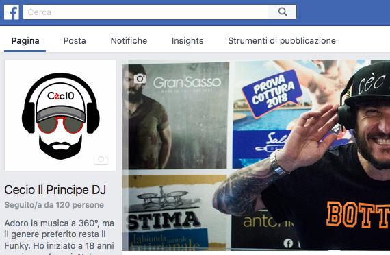 Cecio Il Principe DJ - Social web strategy